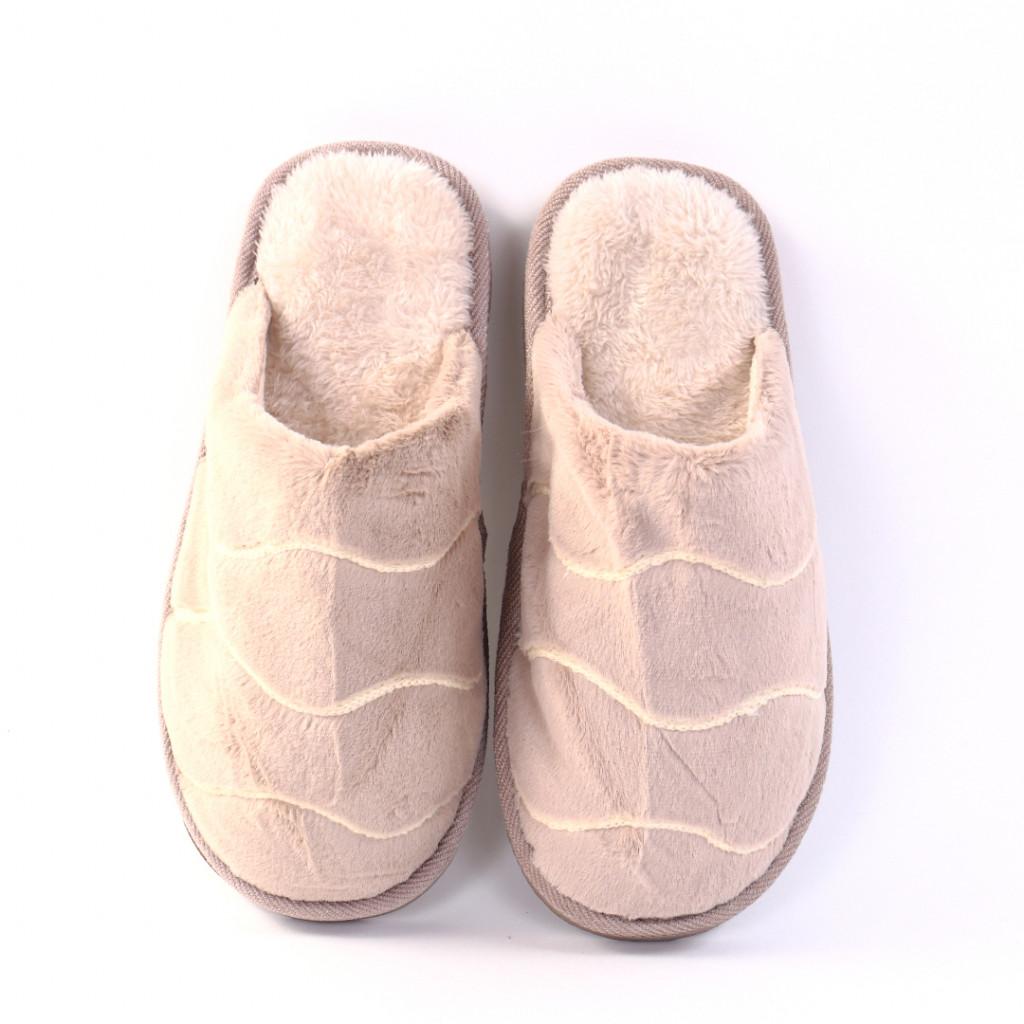 Papuci cu dungi bej Giza